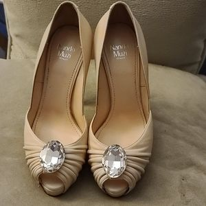 Nando Muzi authentic shoes nude shine stone l